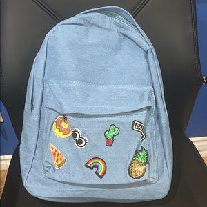 Handbags - NWT Denim Backpack!